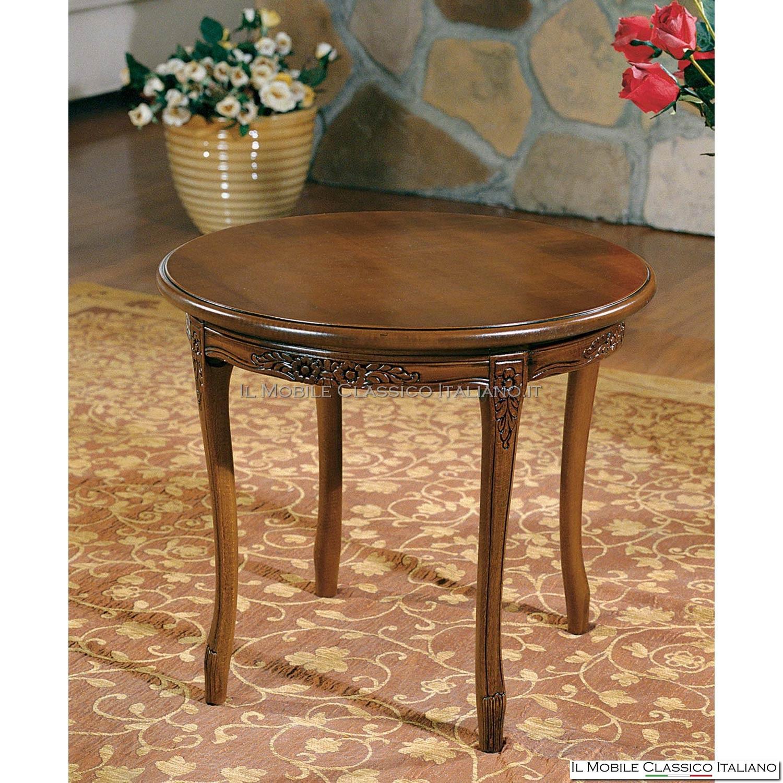 Tavolino Rotondo Da Salotto Antico.Tavolini Da Salotto Classici Tavolini Da Salotto Legno Massello