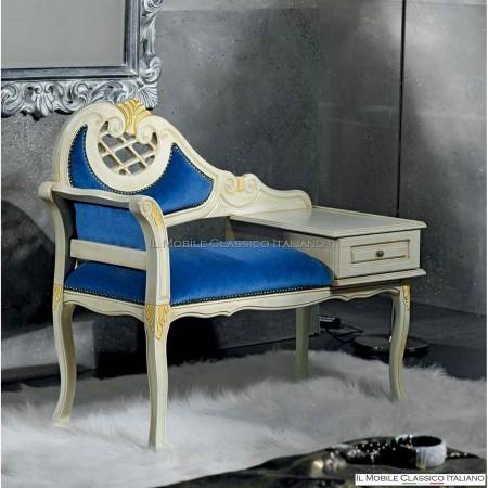 Porta telefono imbottito in legno massello - Portatelefono