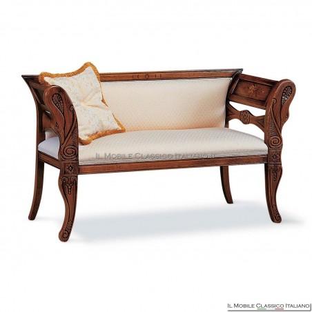 Divanetto imbottito in legno massello art. 149