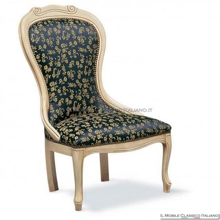 Poltrona imbottita in legno massello art. 109
