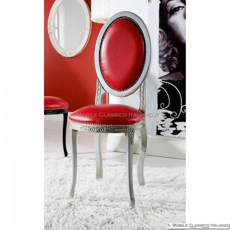 Sedia imbottita in legno massello art. 225 schienale imbottito