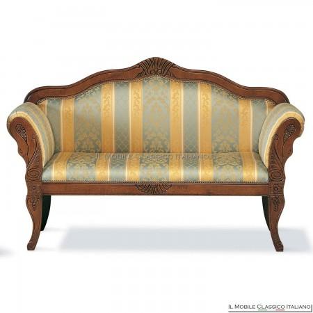 Divanetto imbottito in legno massello art. 154