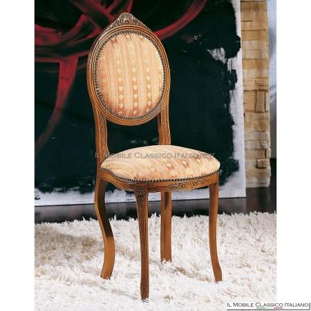 Sedia imbottita in legno massello art. 118