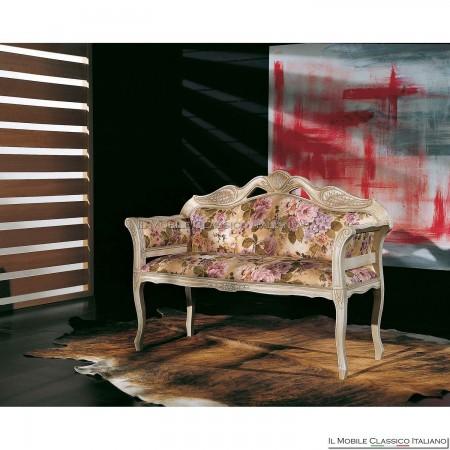 Divanetto imbottito in legno massello art. 199/A