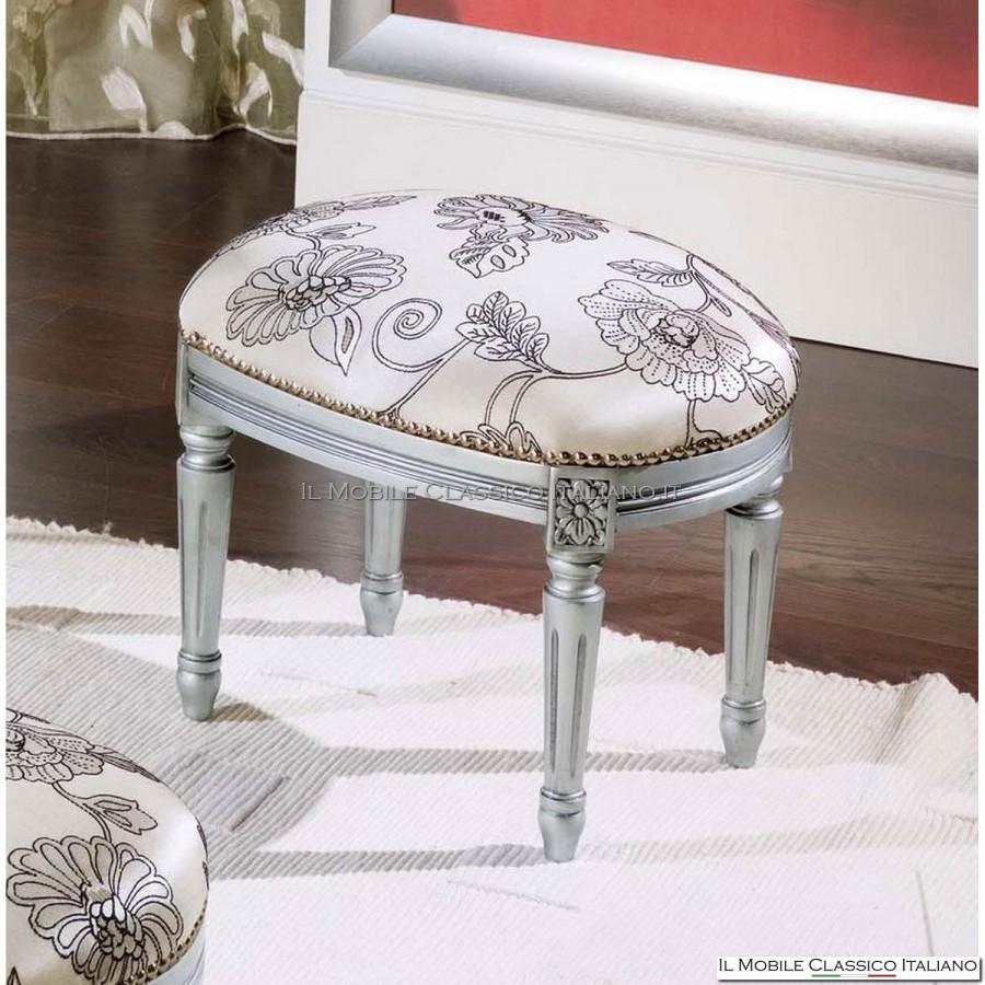 Pouf design stile classico con telaio in faggio mobili for Mobili classici italiani
