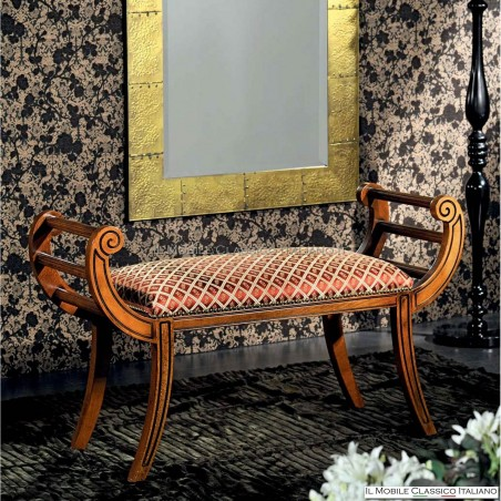 Panchetta imbottita in legno massello art. 218