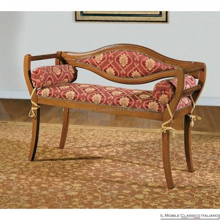 Divanetto imbottito in legno massello art. 174
