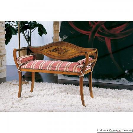 Divanetto imbottito in legno massello art. 178