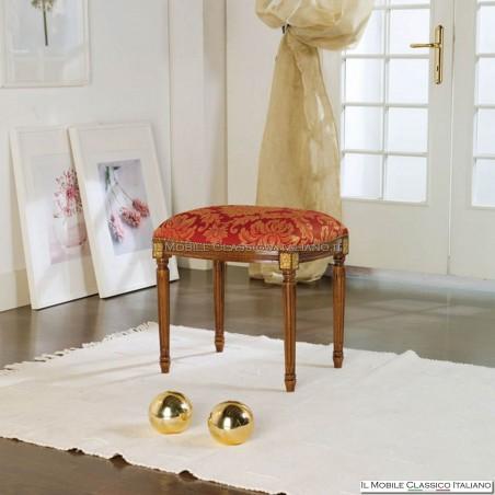 Pouff sgabello imbottito in legno massello art. 284