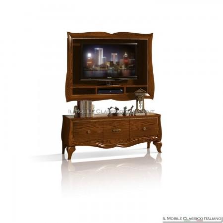 Porta tv parete in frassino