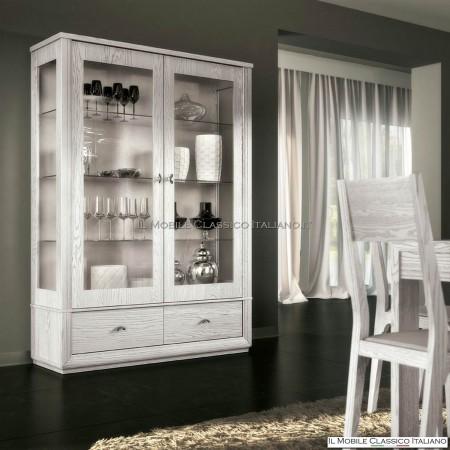argentiera, vetrina 2 ante 2 cassetti art. 4205 con ripiani in ... - Vetrine Da Soggiorno Classiche 2