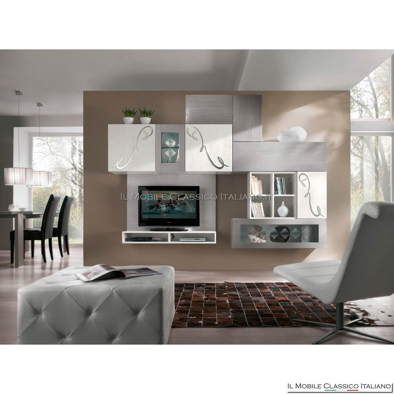 Stunning parete attrezzata moderna ideas acrylicgiftware - Parete attrezzata moderna ikea ...