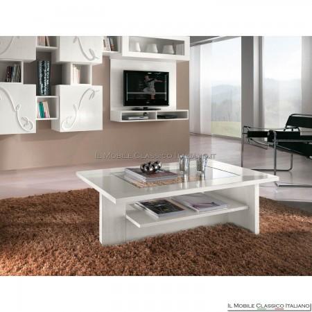 Tavolino rettangolare moderno in frassino