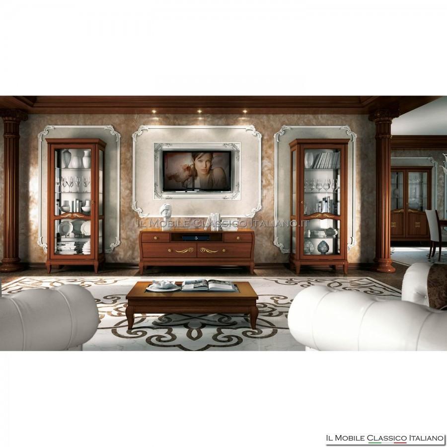 Base porta tv classico moderno porta tv in stile for Vetrina stile moderno