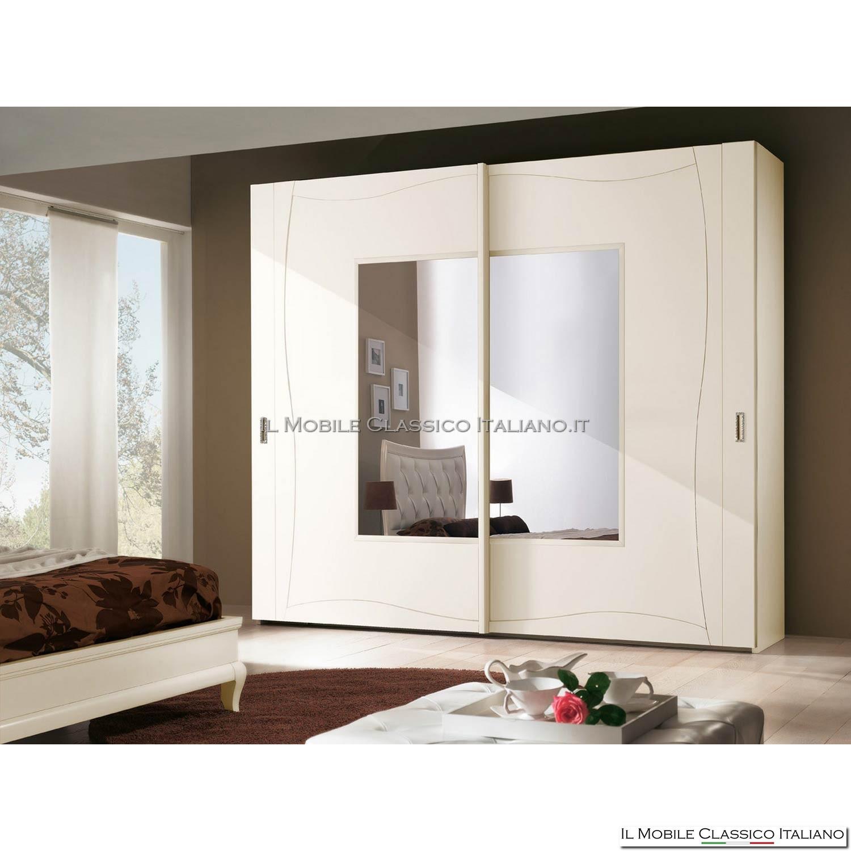 Armadio, guardaroba 2 ante scorrevoli art. 4155/280 con specchio ...