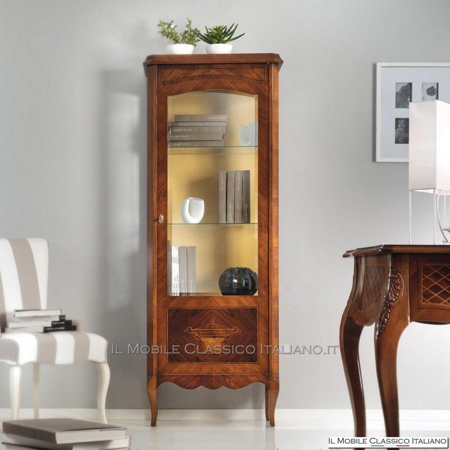 Vetrina classica 1 porta vetrinetta classica mobili in stile classico - Mobili occasioni ...