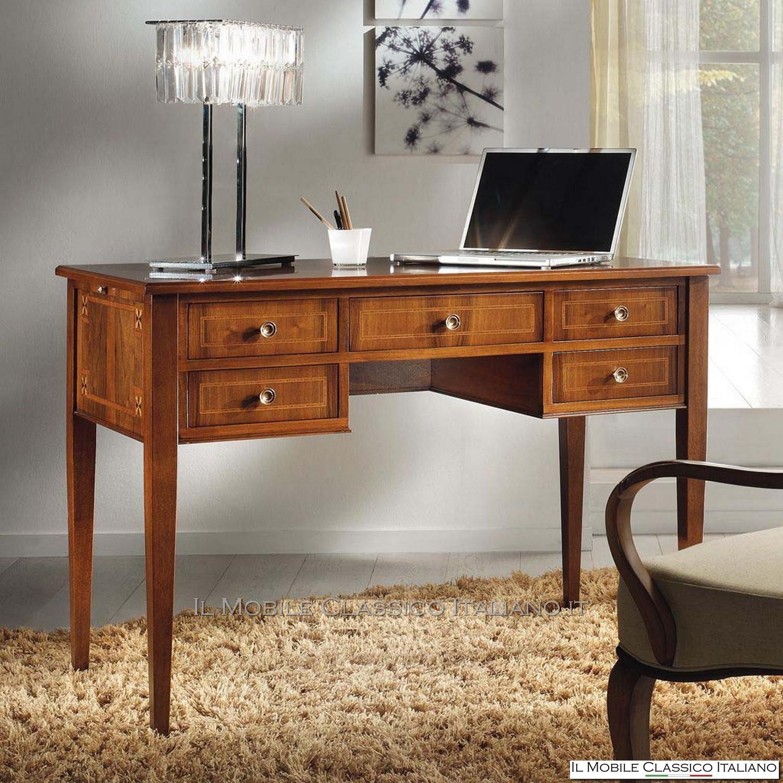 Elegant scrivania classica per pc with scrivanie classiche for Scrivania classica