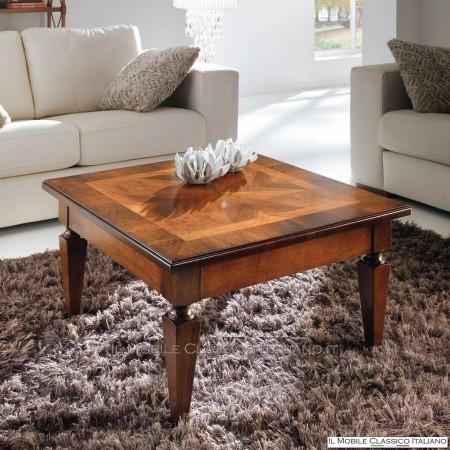 Tavolino da salotto classico - tavolino quadrato classico