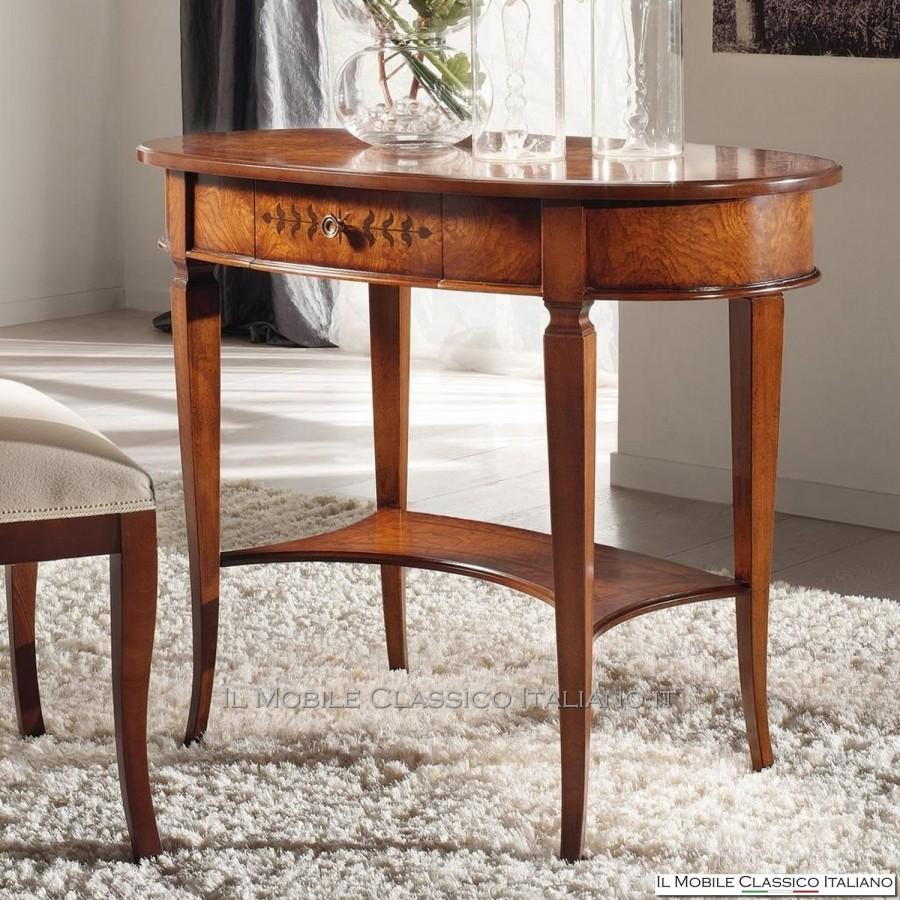 Tavolino da salotto classico ovale tavoli classici mobili in stile - Mobili da salotto classici ...