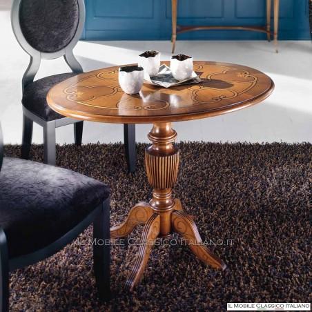 Tavolino ovale intarsiato cod. 718