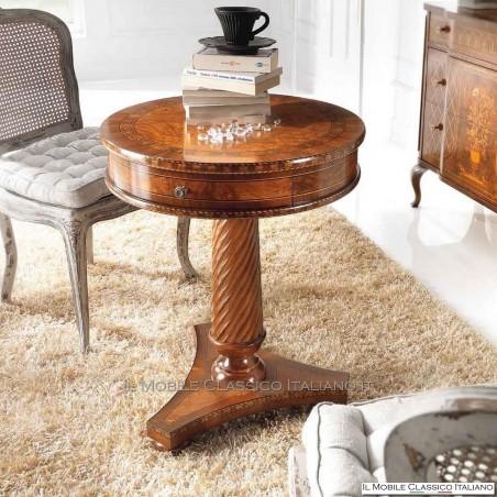Tavolino rotondo contemporaneo