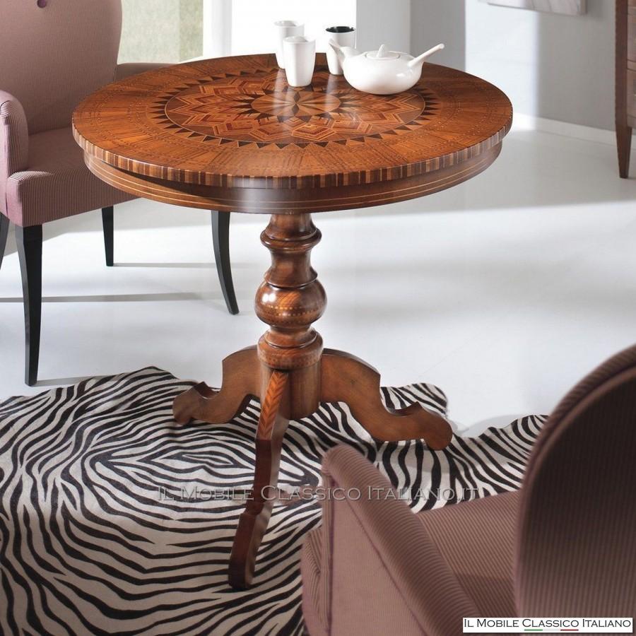 Tavolo rotondo legno tavolino rotondo classico mobili for Tavoli classici
