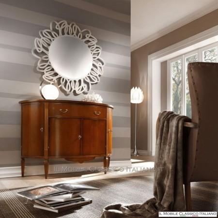 Specchiera traforata rotonda con specchio molato cod. S102