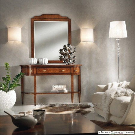 Specchiera in radica di Rovere con specchio molato cod. 619