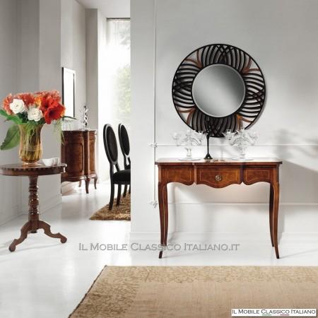 Specchiera traforata rotonda con specchio molato cod. S106