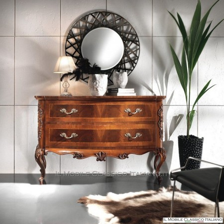 Specchiera moderna rotonda artigianale