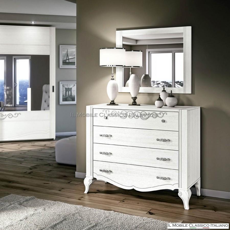 specchio camera da letto in legno - mobili classici italiani - Specchi Da Camera Da Letto
