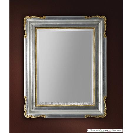 Specchiera specchio barocco rettangolare cornice intagliata cod. 1081