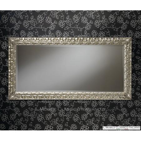 Specchiera specchio barocco rettangolare cornice intagliata cod. 1162