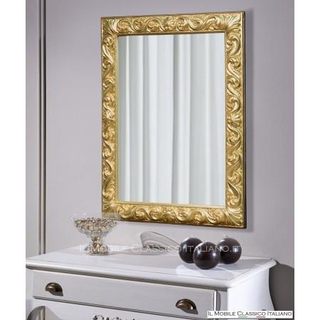 Specchio per comò rettangolare intagliato 70060