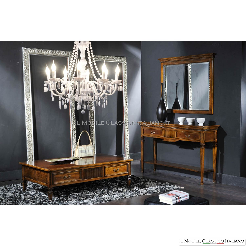 Specchio camera in legno mobili classici italiani - Specchio in legno ...