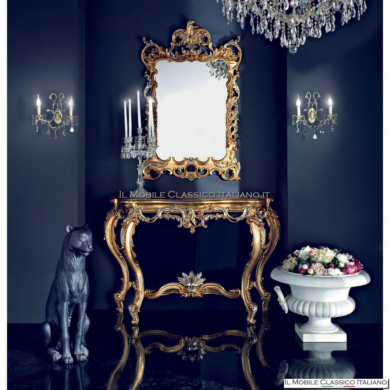 Specchio stile barocco intagliato 1020 - Specchio barocco argento ...