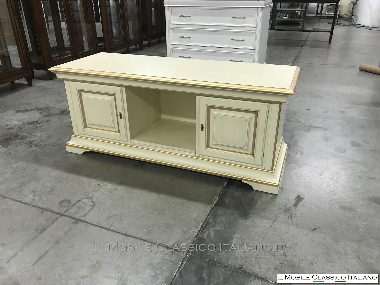 In Stile Classico Tavolini Da Salotto Classici In Foglia Oro.Porta Tv Classico Foglia Oro Personalizzato