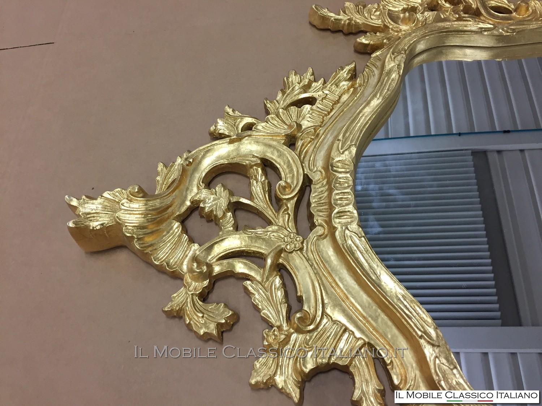 Specchiera barocca rettangolare personalizzata for Specchiera barocca