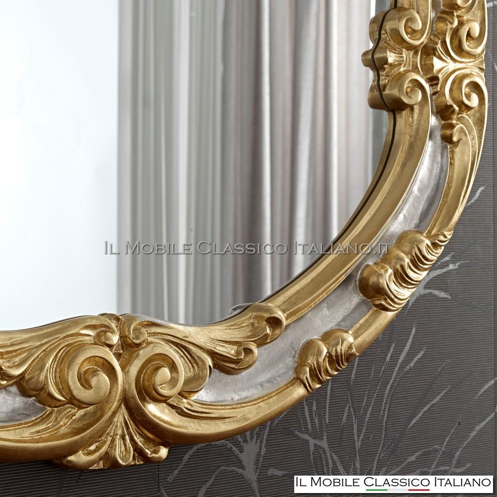 foglia argento patinato con particolari foglia oro patinato